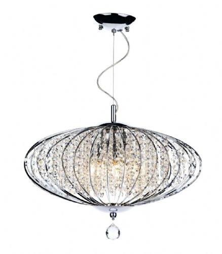 Adriatic 5-light Polished Chrome Decorative Crystal Pendant Ceiling Light ADR0550